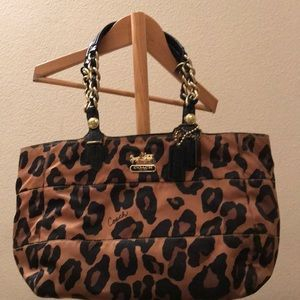 Handbags - Leopard coach purse